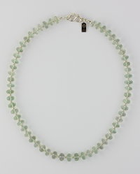 "My  ""Mint Julep"" necklace is only $375 for 226 ct faceted roundelles finished in Argentium® sterling silver."