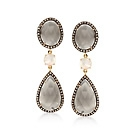 Ross Simon (moonstone, opal and brown diamond earrings-- retail $3000/clearance $995)