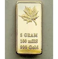 Solid 24 kt gold bar